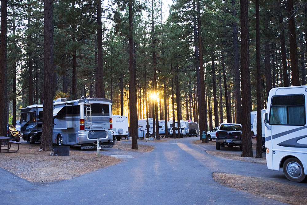 RV Campsites at Zephyr Cove